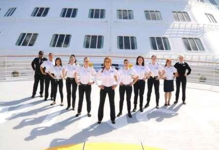 史上首次!精致邮轮新邮轮首航将全部由女船员担纲