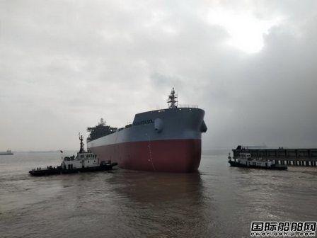 新韩通船舶重工建造2艘82000吨散货船同日下水