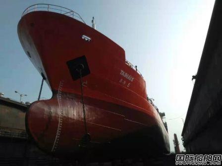 紫金山船厂码头对外开放首修两艘外轮