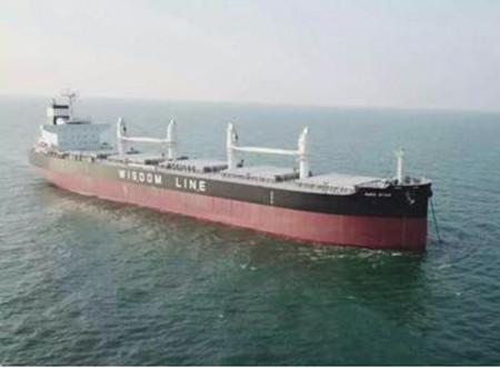 大连中远海运川崎两艘61000吨散货船同日命名