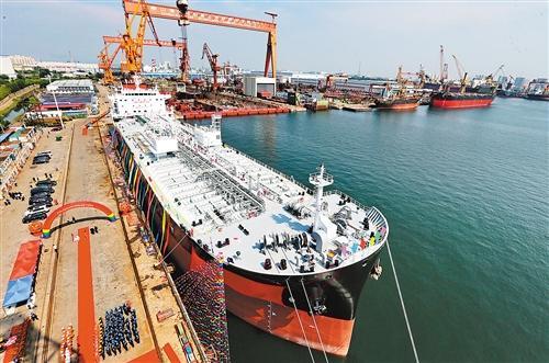 央媒:中国大踏步迈向造船强国