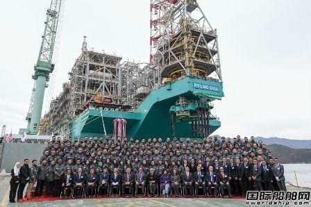 三星重工为马来西亚国油建造第二艘FLNG命名