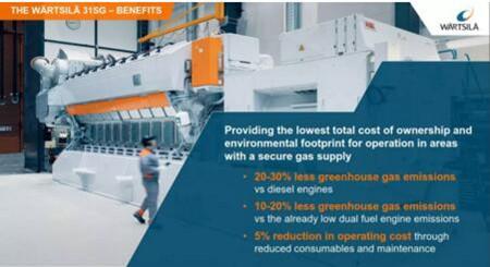 瓦锡兰将在海事展推出31SG纯天然气船用发动机