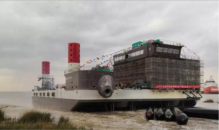 """马尾造船建造""""海电运维801""""号下水"""