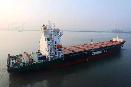 金陵船厂交付中谷物流第四艘1900箱集装箱船