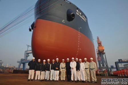 中船澄西为SM集团建造第5艘8.2万吨散货船下水
