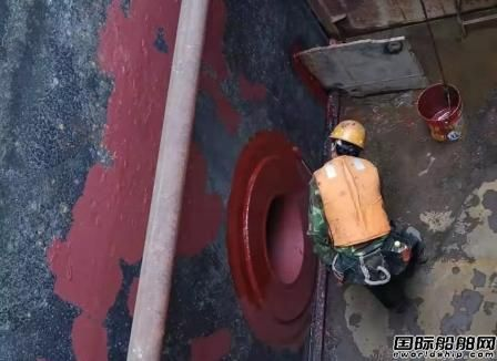 广东中远海运重工首次利用水套工艺完成浮船坞水下维修工程