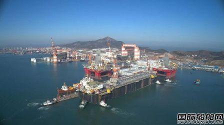 中集来福士为巴西国油建造FPSO交付启航