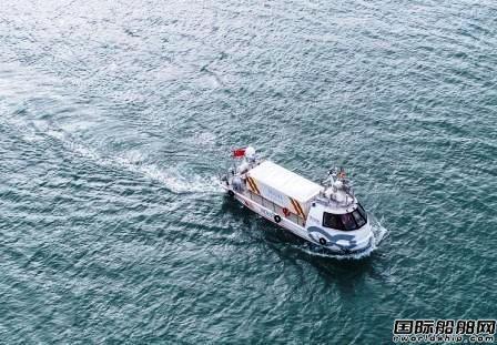 国内首艘自主研发无人货船完成首航
