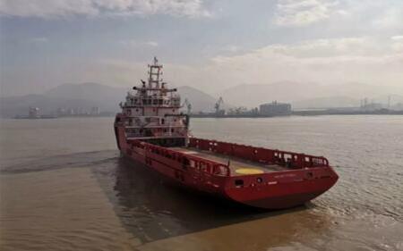 东南造船交付一艘78M平台供应船