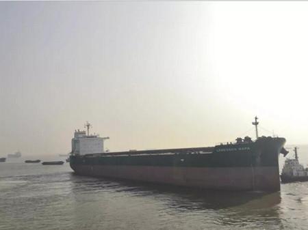 """仅22天!南通中远海运船务""""纳帕""""轮脱硫改装创纪录"""