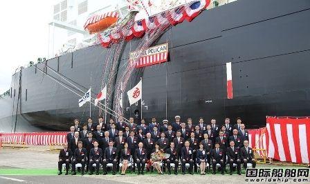 川崎重工交付商船三井一艘15.5万方LNG船