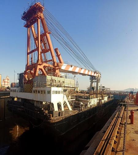 胜利油田海洋船舶胜利151船坞修工作顺利展开