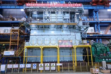 中国船柴青岛属地7G80ME-C9.5首制机成功交验