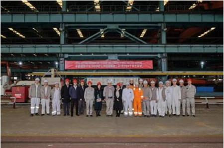 沪东中华为中船租赁建造第2艘17.4万方LNG船开建