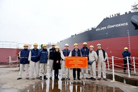 新时代造船2艘208000吨散货船顺利下水