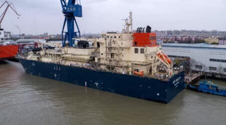 沪东中华18600方LNG加注船完成空测和倾斜试验