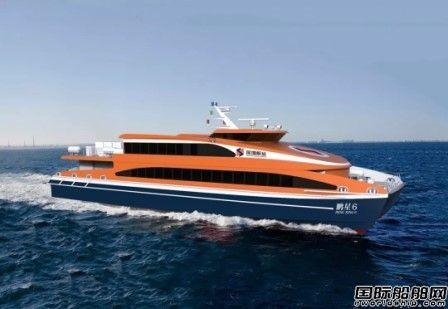 澳龙船艇一艘300客位铝合金高速客船铺龙骨