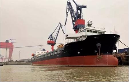 东泽船舶一艘558TEU集装箱船顺利完工