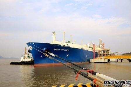 里程碑!中海油浙江LNG迎来第300船LNG