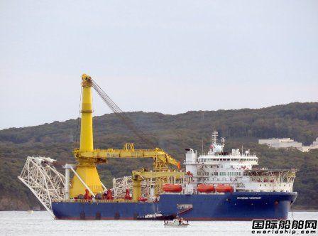 """中国船厂建造铺管船成俄罗斯""""救命稻草"""""""