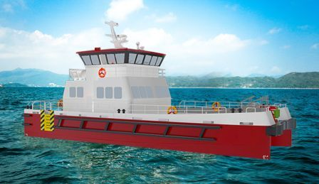 上海电力首艘海上风电专业运维船交接
