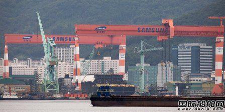 再超中国,韩国船企接单量连续两年排名第一
