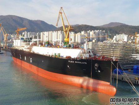 大宇造船为Flex LNG建造17万方LNG船下水