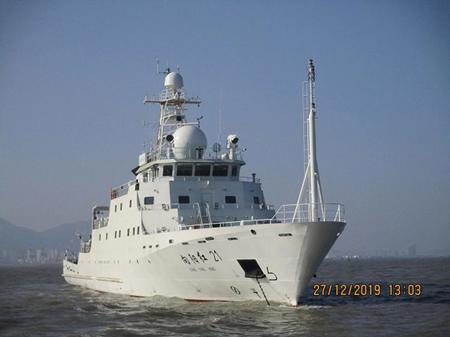 """黄海造船改装""""向阳红21""""号科考船完成航行试验"""