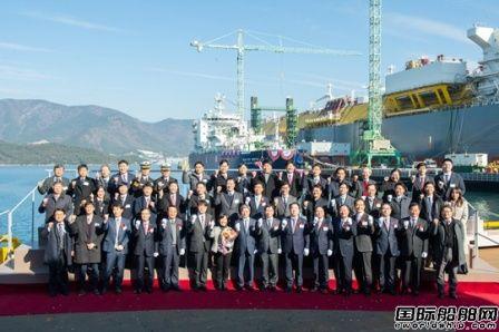 三星重工建造亚洲首艘LNG运输加注船命名