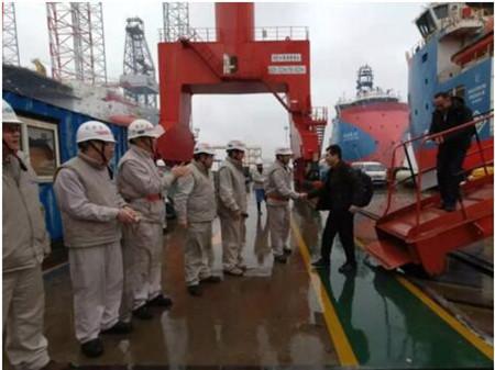 """外高桥造船H1340项目""""国海民盛""""轮试航凯旋"""