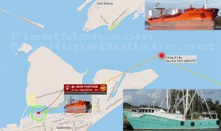 1死2人失踪!Odfjell一艘化学品船与渔船相撞
