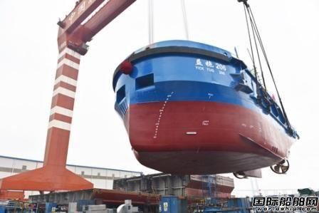 镇江船厂批量建造系列工作船连续下水