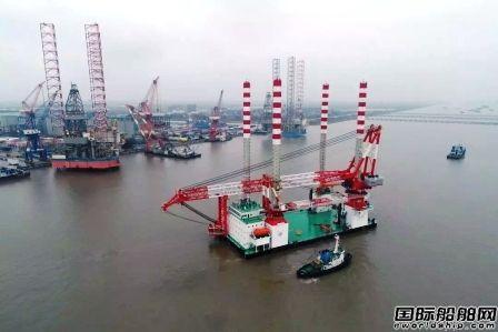 """""""三航风和""""号自升式风电安装船首秀成功"""