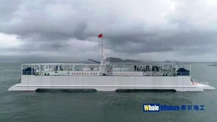中国首座半潜式波浪能养殖平台成功试养