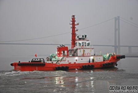 镇江船厂顺利交付4400HP全回转拖船