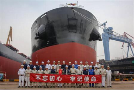 中船澄西交付2020年第一艘船