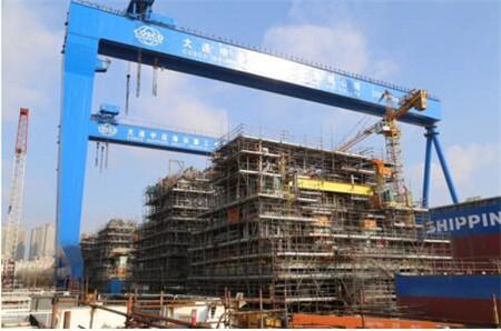大连中远海运重工推进巴油P71项目压缩机模块项目