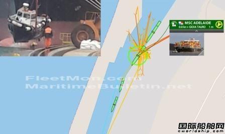 地中海航运1艘集装箱船意大利港口撞沉领航船