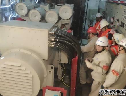 外高桥造船SBM项目FPSO2#船首次实现坞内应急发电机动车