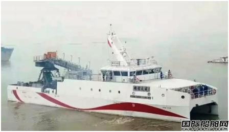 """江苏大洋""""雄程天威1""""号风电运维船试航成功"""