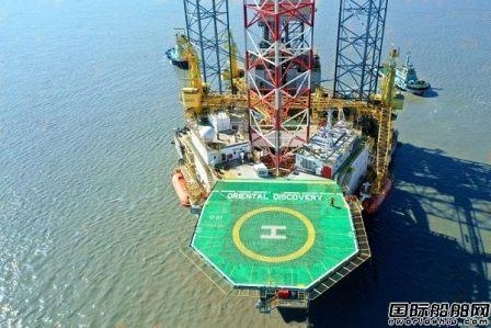 国海海工14.7亿元自升式钻井平台交付