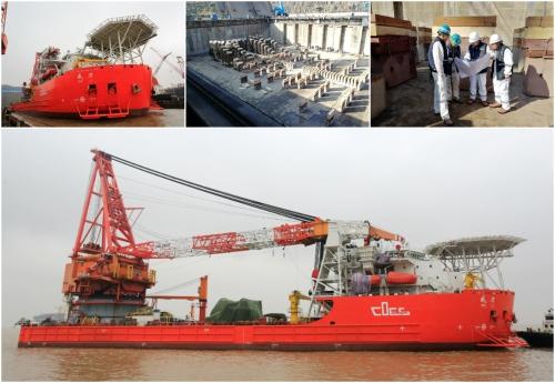 """舟山中远海运重工完成首修特种起重船""""威力""""轮"""
