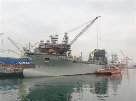大连中远海运重工首艘挖泥船进入水下舾装攻坚阶段