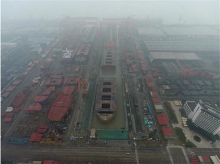 中国最长船坞!外高桥造船2号坞接长改造项目主体结构完工