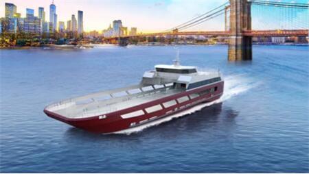 江龙船艇开工建造新西兰44.8米车客渡船