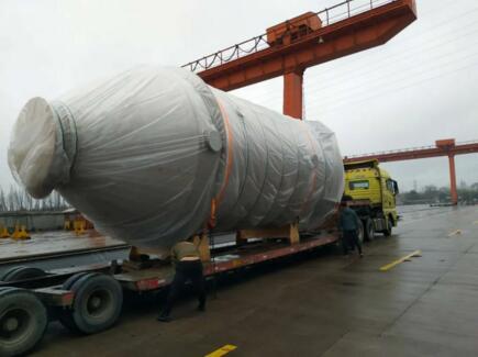 南通远洋配套首套3700型脱硫塔顺利交付