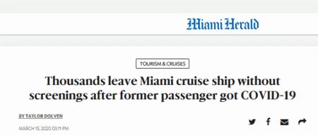 美国一邮轮放4千乘客下船下船,前批乘客刚被确诊