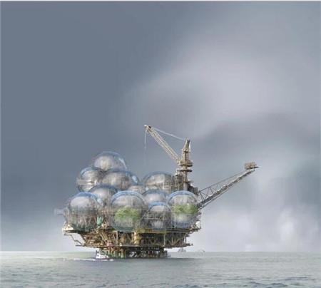 梦幻未来海上之家:钻井平台变身绿色宜居家园