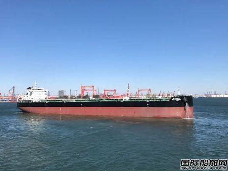 港船重工82000吨散货船5号船出海试航